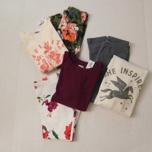 NWT 6pc Old Navy Gymboree Tops Leggings Outfit Lot